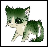 Green Kitty by kidbrainer