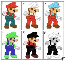 Mario Colors by Brainstorm-bw-style