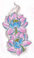 Lotus flowers by Kirzten