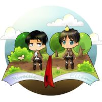 Rivaille and Eren by ClaudiaQH