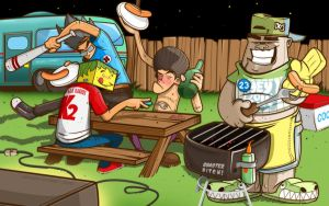 """NENDESKOMBET"" in BBQ Party by Docilus"