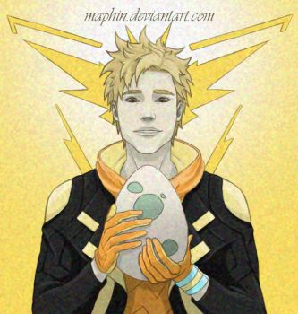 POKEMON GO - Spark with a Pokemon egg by Maphin