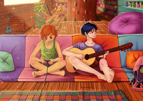 Pedro and Lucas at the Tree House by ringochan94