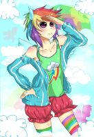 rainbow dash humanized by imara000