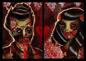 Zombie wedding by MummysLittleMonster