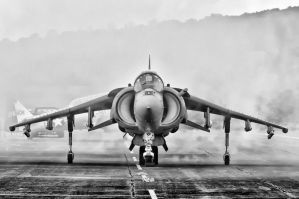 Harrier Startup by aviationbuff