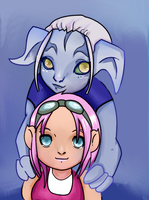 Gnome and Asura by xAlalax