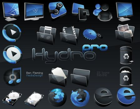 HydroPRO -HP- Dock Icon Set by MediaDesign