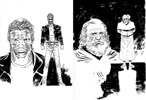 Boone and Lylesburg character studies by DEVMALYA