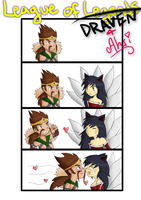 League of Draven (and Ahri) by AKnightOfNee