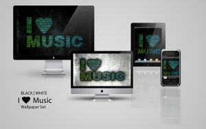 i love music wallpaper set by tahnee-r