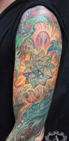 Bio-Mechanical Half Sleeve Tattoo done by Sean by seanspoison