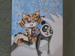 Po And Tigress In The Snow V2 by TiPophotorequester