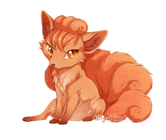 Cute Vulpix by kittycat-fiend