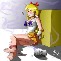 Sailor Venus+Sleeping+Gagged by sleepy-comics