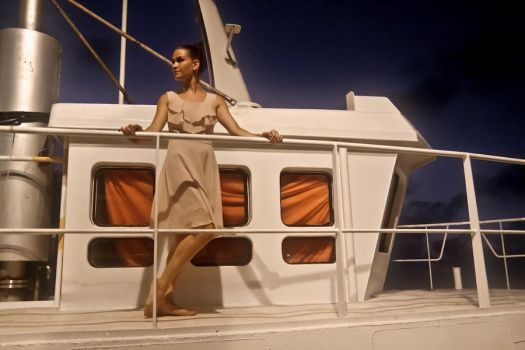 Model on a yacht by guyprives