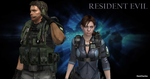 Resident Evil - Chris and Jill Wallpaper by DanCharles