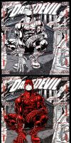 DAREDEVIL sketch card puzzle MGH 2012 (Avengers) by slickaway