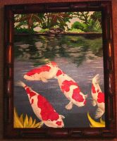 Koi in a Pond by firesprite