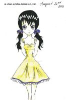 Yellow dress by Ai-chan-Uchiha