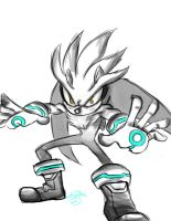 Silver The Hedgehog by Lea007