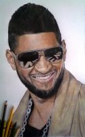 Usher Crayon Portrait by ghosthorror