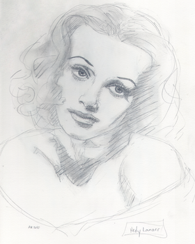 Hedy Lamarr by miracledrug