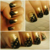 Gold and black classy by LittleAndzia
