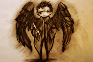 SPN: Castiel Angel 3 by cannorachan