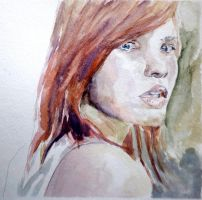 Auburn Haired Lady by StefanRess