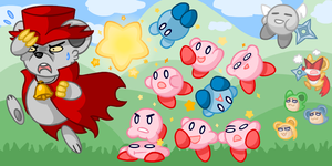Kirby Mouse Attack by PuffyTrousers
