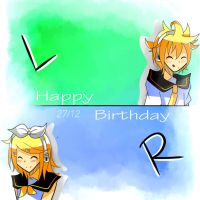 HBD Rin and Len!!! by Yuulyn
