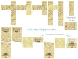 How to fold the flaps on The Marauders Map by LittleFallingStar