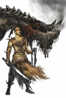 Dragon rider by Trishkell