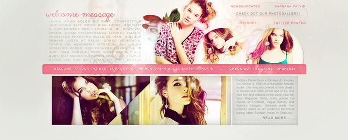 Barbara Palvin Header Fansite by sort-of-invisible