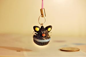 Chococat Polymer Clay Charm by FatCatCharms