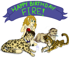 FireHeart28 Birthday Surprise by snowyangel15