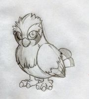 The Runty Pidgey Reggie SKETCH by KasaraWolf