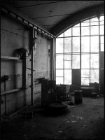the hall in black and white by w-p