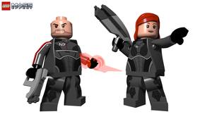 LEGO Mass Effect - Commander(s) Shepard (ME3) by Quinn-G