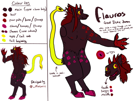 Flauros reference sheet by finxh