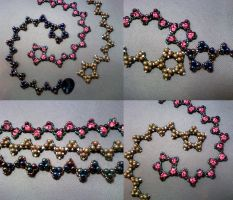 Shooting Star Bracelet Collage by beadg1rl