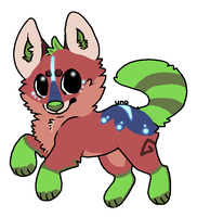 Red Panda Kiwi Puppy~Closed~ by Sekaryu