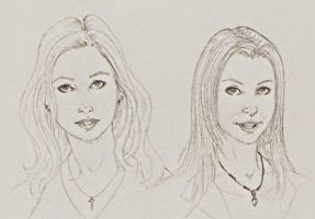 Buffy and Willow by ShatteredIMJ