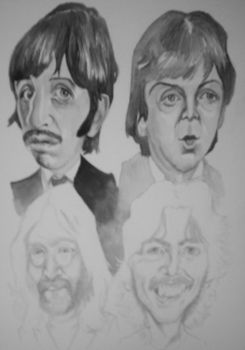 Beatles Caricature W.I.P. by ccobb1234