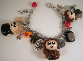 The Hunger Games Charm Bracelet by sweet-geek