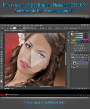 Realistic Hair Painting Tutorial by SK-DIGIART