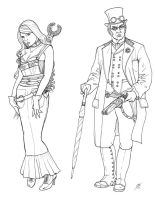 SteamPunk Characters 02 by DocRedfield
