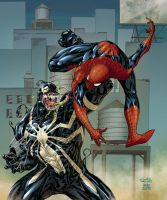 SPIDERMAN vs VENOM by AndreaCelestini