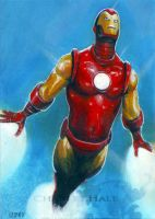 Iron Man card 575 by charles-hall